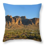 Superstition Mountain In The Evening Sun Throw Pillow