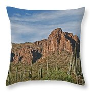Superstition Mountains  Throw Pillow