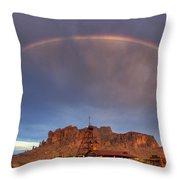 Superstition Rainbow  Throw Pillow