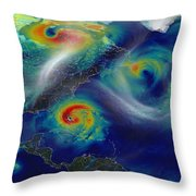 Superstorm Sandy Throw Pillow