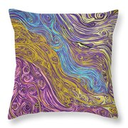 Superstring Aflowing Throw Pillow