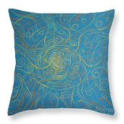 Superstrings Of The Qark Throw Pillow