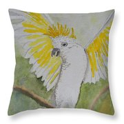 Suphar Crested Cockatoo Throw Pillow