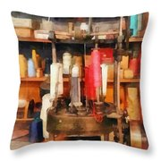 Supplies In Tailor Shop Throw Pillow
