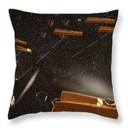 Supply Wars Throw Pillow