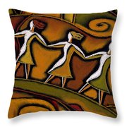 Support Throw Pillow by Leon Zernitsky