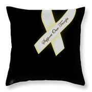 Support Our Troops Ribbon Antique Car Show Casa Grande Arizona 2004 Throw Pillow