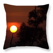 Supporting The Sun Throw Pillow