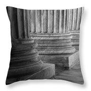 Supreme Court Columns Black And White Throw Pillow