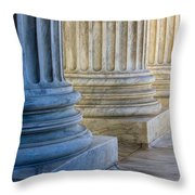 Supreme Court Colunms Throw Pillow