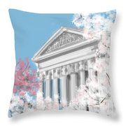Supreme Court Washington Dc Throw Pillow