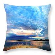 Sureal Pewaukee Lake Sunrise Throw Pillow