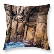 Surf And Cliff Throw Pillow