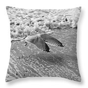 Surf And Wings Throw Pillow