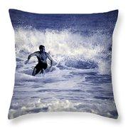 Surf At Summer Throw Pillow