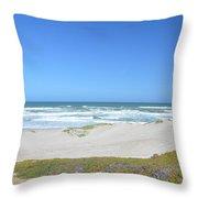 Surf Beach Lompoc California 3 Throw Pillow