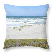 Surf Beach Lompoc California 4 Throw Pillow
