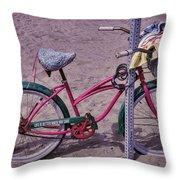 Surf Bike Throw Pillow