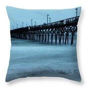 Surf City Pier Soft 2 Throw Pillow