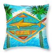 Surf Crest Throw Pillow