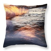 Surf On Fire-1 Throw Pillow