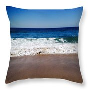 Surf Sand And Sky Throw Pillow