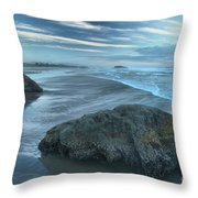 Surf Statues Throw Pillow