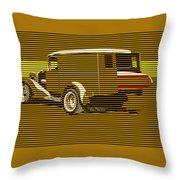 Surf Truck Golden Sand Throw Pillow