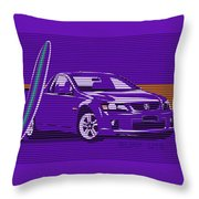 Surf Ute Purple Haze Throw Pillow