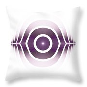 Surface Waves - Purple Throw Pillow