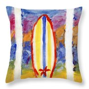 Surfboards 1 Throw Pillow