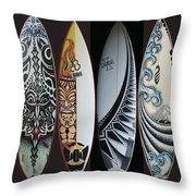 Surfboards Art Throw Pillow