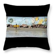 Surfer Beach 1034b Throw Pillow