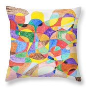 Abstract Dance Party  Throw Pillow