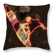 Surfer Throw Pillow by David G Paul