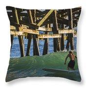Surfer Dude 1 Throw Pillow