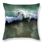 Surfer From The Sky Throw Pillow
