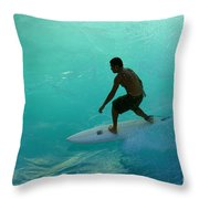 Surfer In The Zone Throw Pillow