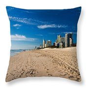 Surfers Paradise Beach By Day Throw Pillow