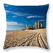 Surfers Paradise Beach South Throw Pillow