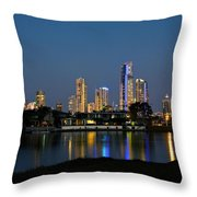 Surfers Paradise By Night Throw Pillow