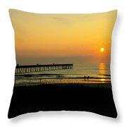 Surfers Sunrise Throw Pillow