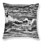 Surfin In The Usa V8 Throw Pillow