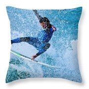 Surfing 2 Throw Pillow