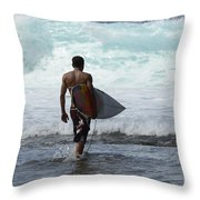 Surfing Brazil 3 Throw Pillow