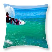 Surfing California Throw Pillow