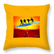 Surfing For Peace Throw Pillow