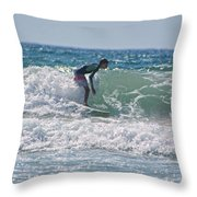 Surfing In California Throw Pillow