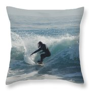 Surfing In The Sun Throw Pillow