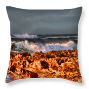 Surfing In The Usa V12 Throw Pillow